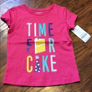 Time for Cake 2T Pink Tee
